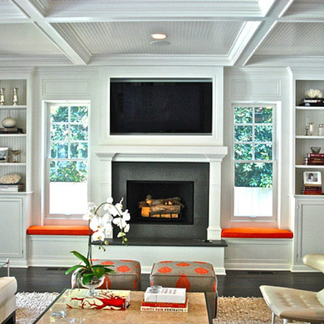 23 Best Fireplace With Windows Images On Pinterest