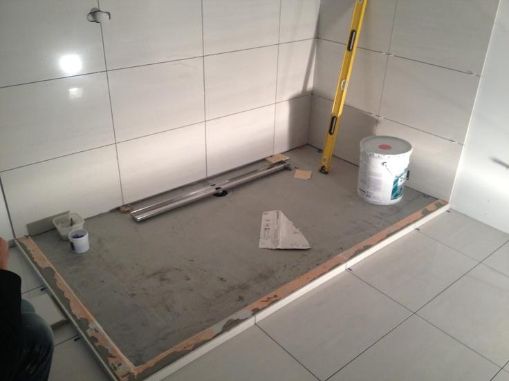 Schluter Shower Base Install