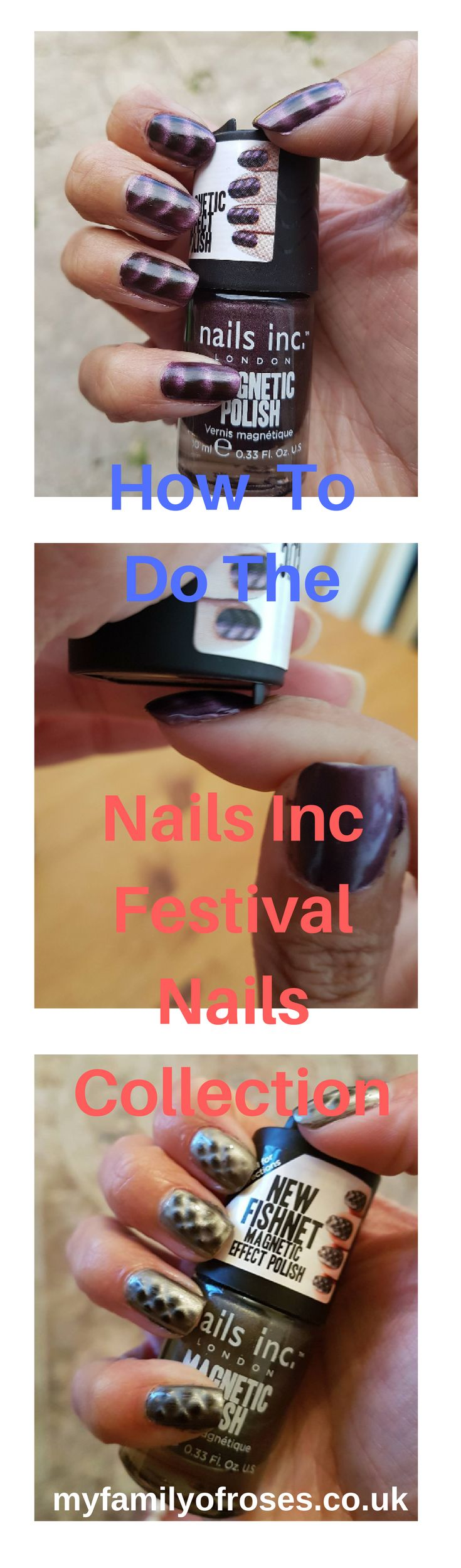 I recently purchased the Nails Inc Festival Collection. These 8 magnetic nail polishes look fab when done.  Though it took me a while to master the technique, it is really very simple to do.  Read my tips over on my blog