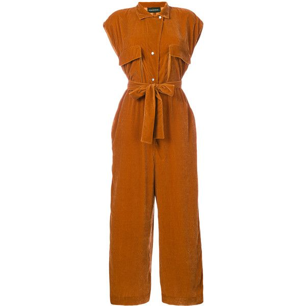 By Malene Birger Tulena jumpsuit (€210) ❤ liked on Polyvore featuring jumpsuits, jump suit, by malene birger and brown jumpsuit