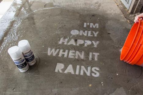 """Never Wet"" from Home Depot: ""Step 1: You need a stencil. You can do something simple or use an image that includes a fair amount of detail. I created my own stencils fr..."