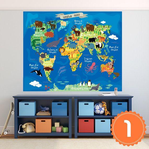 Best 25 world map mural ideas on pinterest world for Poster mural 4 murs