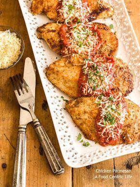 Pechugas de pollo a la parmesana
