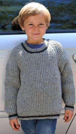 Strikkeopskrift | Strik klassisk drengesweater med kontraststriber | Blød strik til børn | Strik lunt til drenge |Lun og blød børnestrik| Håndarbejde