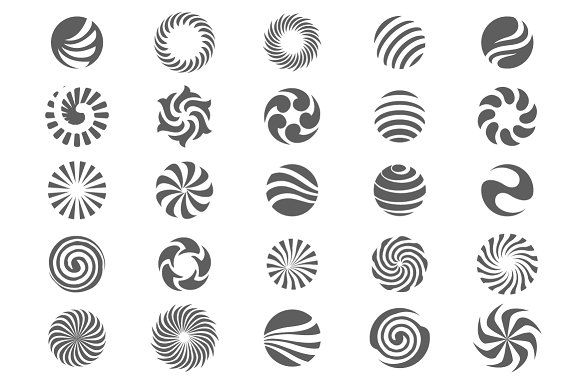 25 Abstract circle symbols by AliceNoir on @creativemarket