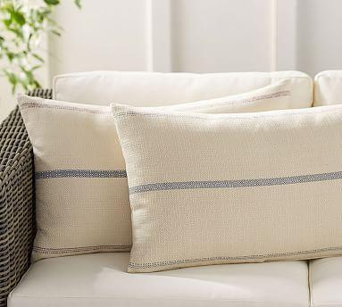 Grainsack Indoor/Outdoor Lumbar Pillow #potterybarn