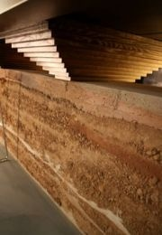 Pisé - rammed earth architecture - old French technique introduced at Wimpole by the 3rd Earl and John Soane