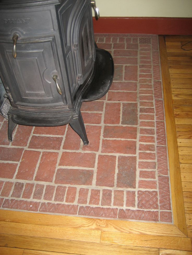 This wood stove pad was the design of the homeowner. She used some of our - 42 Best Propane Stove Ideas Images On Pinterest Wood Burning