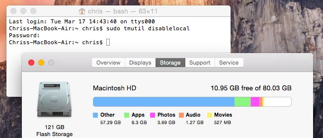 How to Free Up Space Used By Time Machine's Local Backups on Your Mac