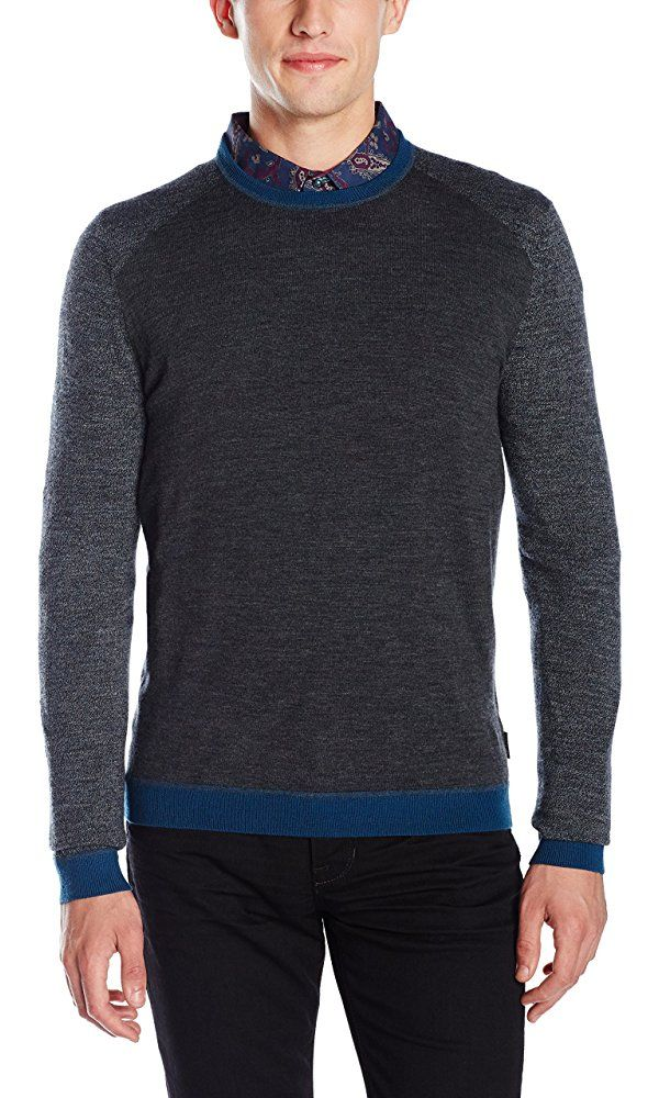 Ted Baker Men's Cambell Sweater, Charcoal, 3/Medium Best Price