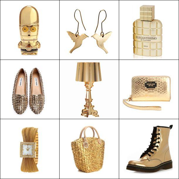 Dünya bir yana, altının ihtişamı bir yana! Yılın en iddialı, en şık, en özel altın yılbaşı hediye önerilerimiz için haydi Markafoni Blog'a! #moda #hediye #yilbasi #trend #altin #dore #aksesuar #ayakkani #gold #luxury #stevemadden #lovemoschino #accessories #shoes