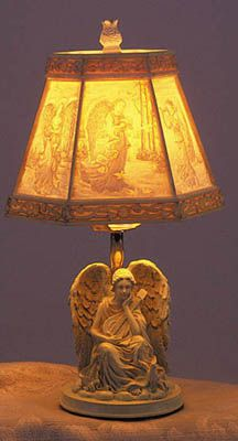 Elegant Alabastrite Angel Lamp