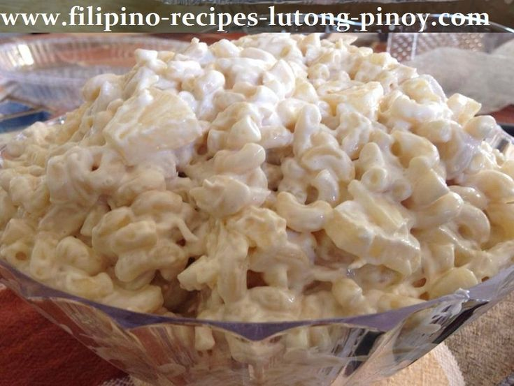Filipino Macaroni Chicken Salad Pinoy Style Recipe