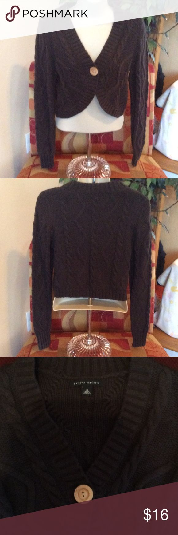 Banana republic shrug sweater really cute shrug sweater with single wooden button 4th photo gives