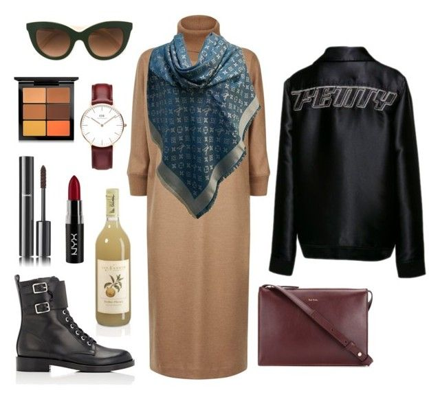 """so 😍🦋"" by hellenlerman ❤ liked on Polyvore featuring MaxMara, Gianvito Rossi, Victoria Beckham, Puma, MAC Cosmetics, Chanel, Louis Vuitton, Paul Smith, Daniel Wellington and NYX"
