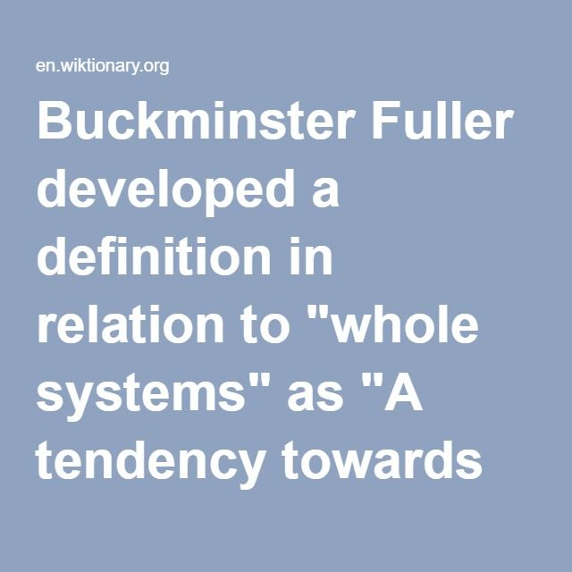 """To be a Greater Force for Syntropy. WIKIPEDIA: Buckminster Fuller developed a definition in relation to """"whole systems"""" as """"A tendency towards order and symmetrical combinations, designs of ever more advantageous and orderly patterns. Evolutionary cooperation. Anti-entropy.""""  https://youtu.be/gSPNRu4ZPvE  http://www.syntropy.org/"""