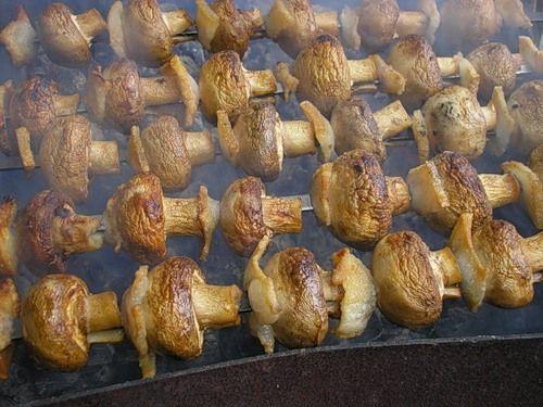 шашлык из грибов