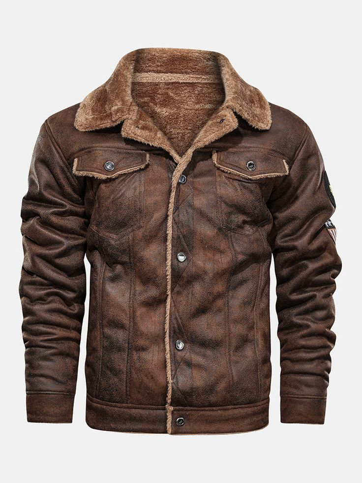 Mens Winter Fleece Lined Warm Faux Fur Leathers Suedes