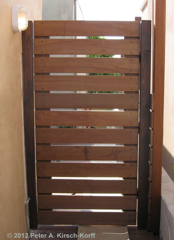 Custom Ironwood Horizontal Gate Los Angeles Ca Garden
