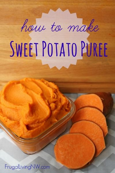 How to Make Sweet Potato Puree -- www.frugallivingnw.com
