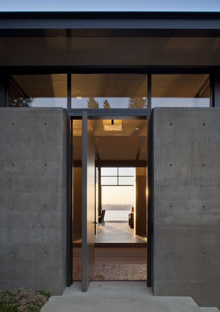 Concrete entrance + view