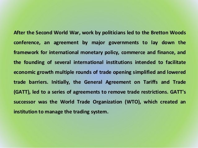 The Political Economy Of The World Trading System The Wto And Beyond