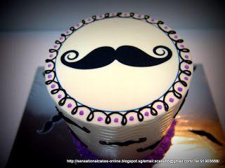 Mustache Birthday Cakes for Girls | RAINBOW CAKE MUSTACHE CAKE SINGAPORE PURPLE