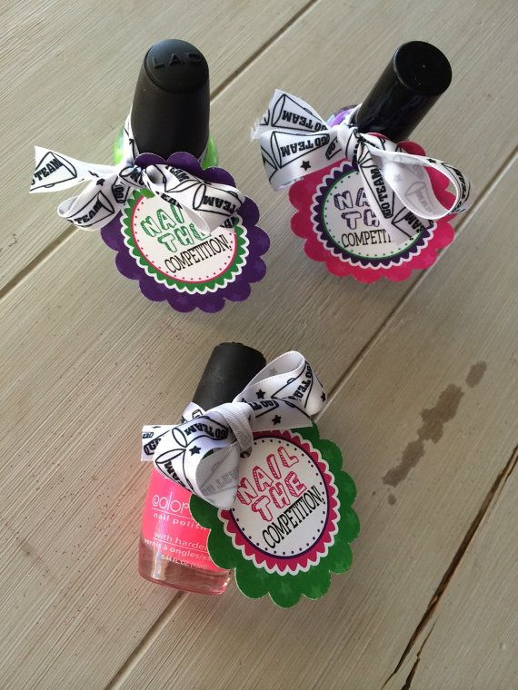 Cheerleading Good Luck Favor Tags PDF file by EllaJaneCrafts