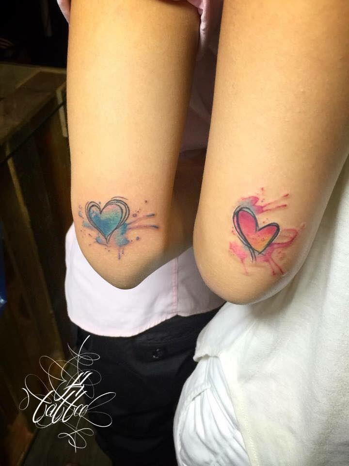 ❤Beautiful Watercolor Heart Tattoos.