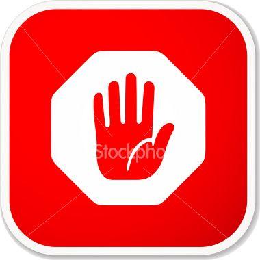 hand, stop, octagon