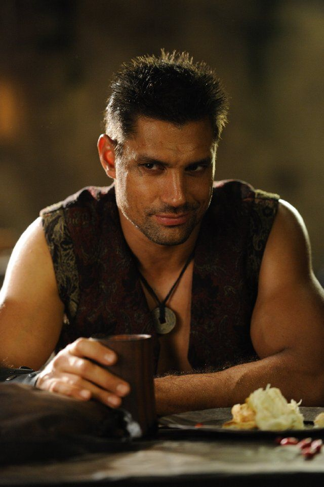 Manu Bennett (New Zealander) ~ Plays Crixus in Spartacus & is Azog in The Hobbit!