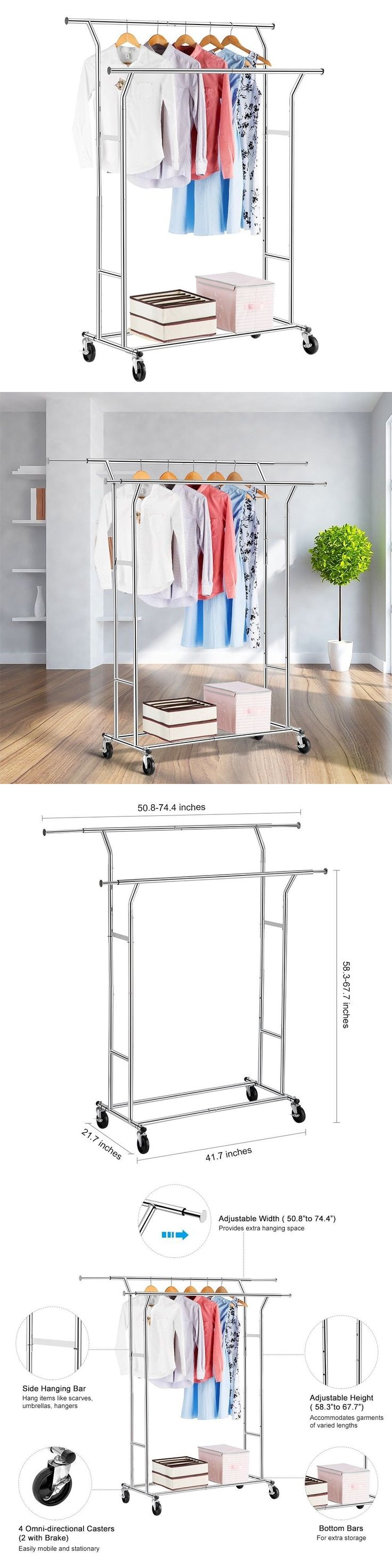 Garment Racks 166325: Commercial Grade Double Rail Clothes Rack Supreme Steel Garment Rack, Ad -> BUY IT NOW ONLY: $80 on eBay!