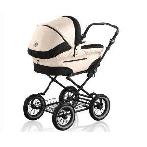 Roan Rocco Classic Pram Stroller 2-in-1 with Bassinet and Seat (Perl or Graphite) $498