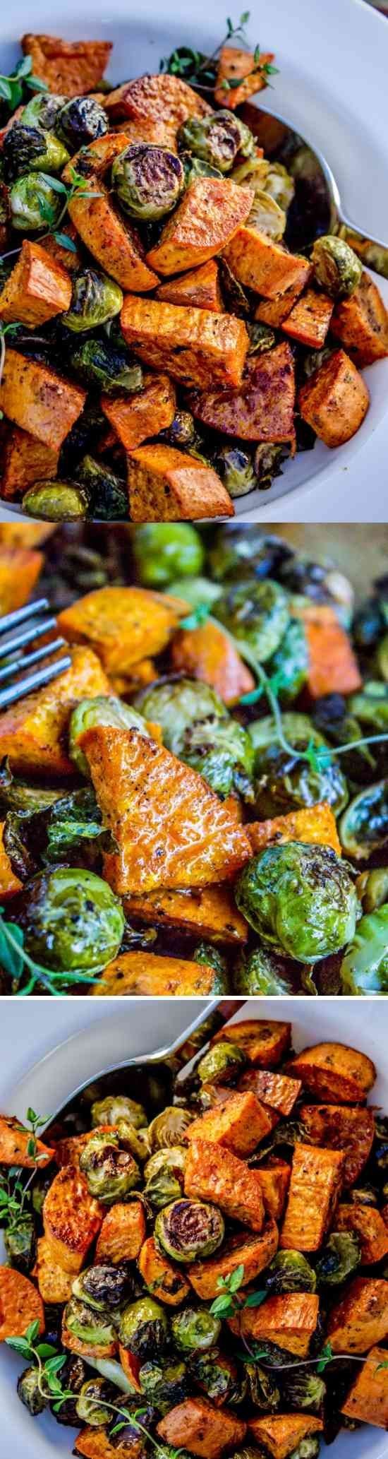 Roasted vegetables (like these Brussels sprouts and sweet potatoes) are superior in almost every way; it's a fact. But they …