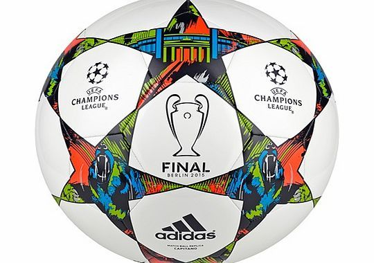Adidas UEFA Champions League Final Capitano adidas UEFA Champions League Final Capitano Football - WhiteThe adidas UEFA Champions League Final Capitano Football is a replica of the ball that all eyes will be watching during the 2015 Champions L http://www.comparestoreprices.co.uk/football-equipment/adidas-uefa-champions-league-final-capitano.asp