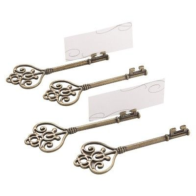 "12ct Kate Aspen ""Key To My Heart"" Victorian-Style Key Place Card Holder : Target"