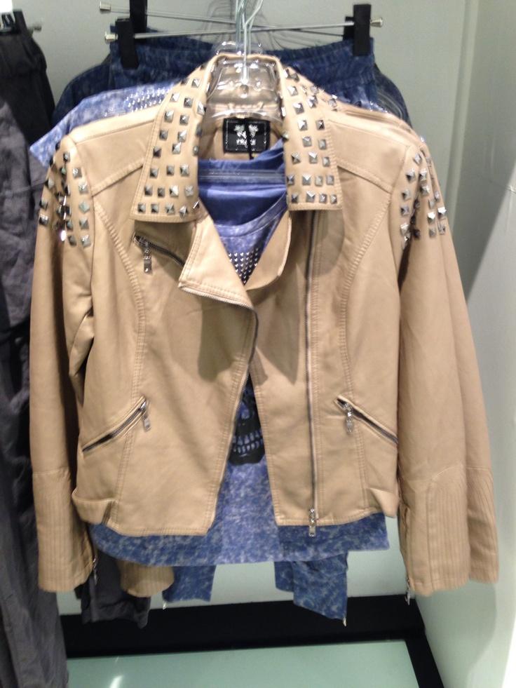#stud#biker#leather#jacket from #NICCI