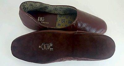 New Daniel Green Men's  Leather Slippers Size 12