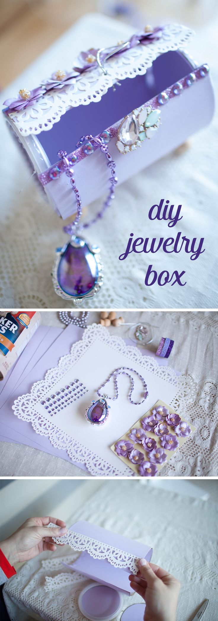 Best 25 Diy Jewelry Box Ideas On Pinterest