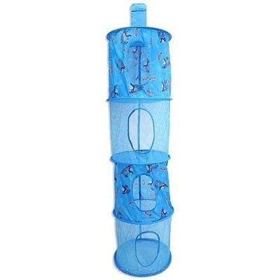 Thomas and Friends 4-Tier Hanging Mesh Storage Organizer, Blue