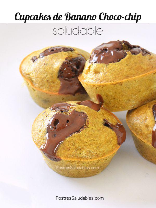 Postres Saludables | Cupcakes saludables de Banano Chocochip |https://www.youtube.com/watch?v=pERxu2GiyPs