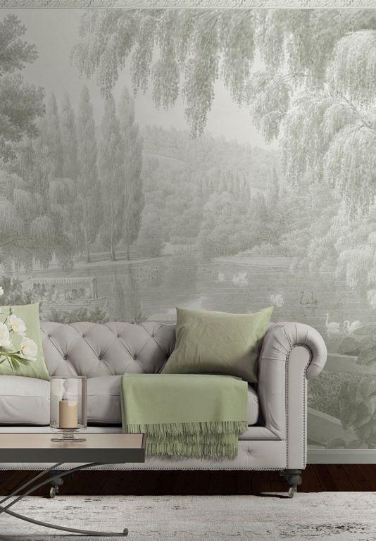 les 25 meilleures id es de la cat gorie papier peint vert. Black Bedroom Furniture Sets. Home Design Ideas