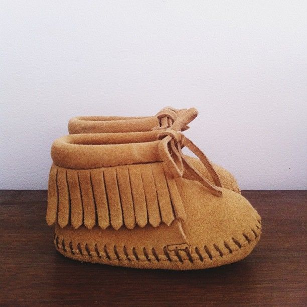 The most adorable baby moccasins!