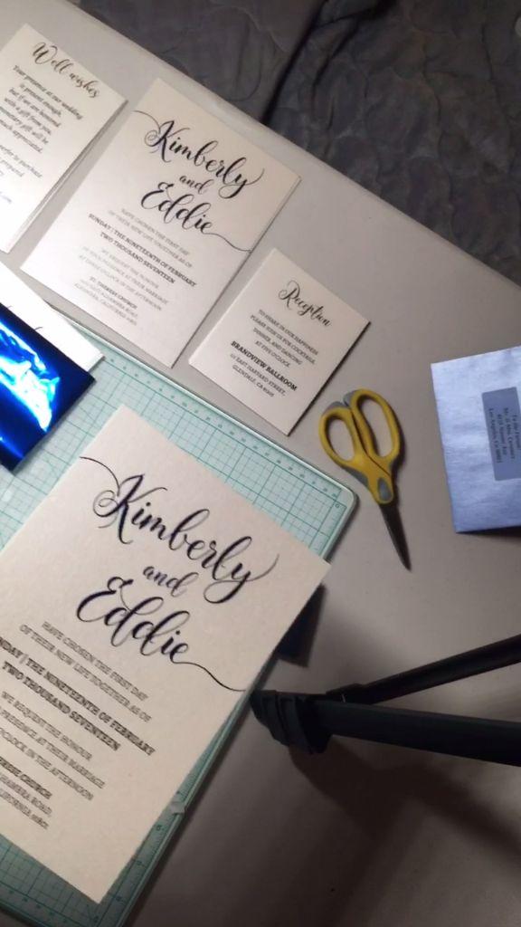 wedding invitation assembly tutorial
