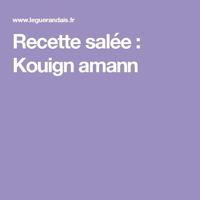 Recette salée : Kouign amann