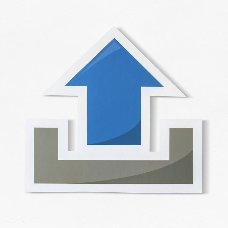 Download premium psd of symbol of upload technology icon 402435