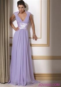 Lavender Evening Dresses, Long Chiffon Prom Dress, Lavender Prom Dress $150.00