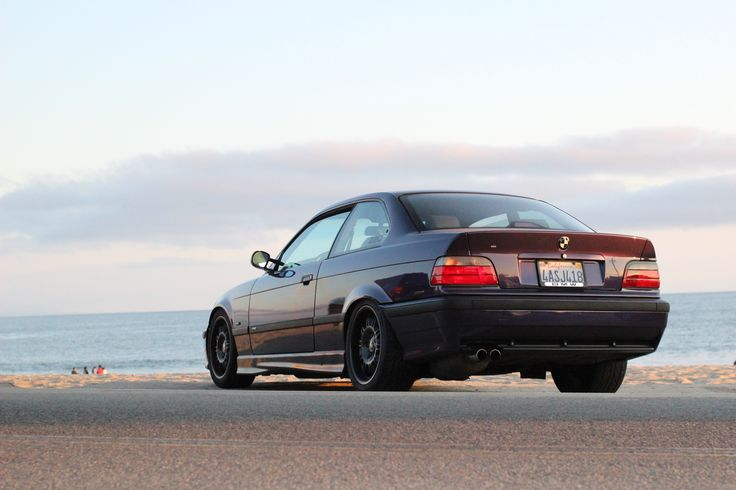 Overlooking the Santa Cruz ocean in 2013! 1998 BMW M3 Techno Violet Coupe Purple Stance Low Slammed Racecar LTW Racing Fast Mtechnic Mpower Slicktop Catuned Goals Bavarian Motorsport Rare Want Need