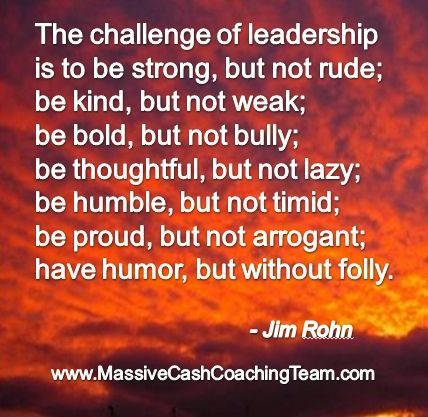 Leadership is both an honor and a responsibility...take it seriously and take the time to learn the qualities of a good leader...start with this.