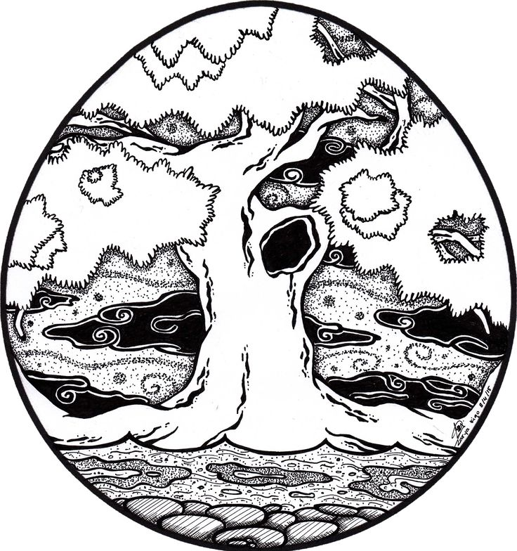 Tree. A drawing created for the easter collab held by Ry-spirit.